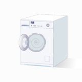 Grey vector washing machine. Stock Images