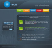 Grey Vector Web site for business Royalty Free Stock Photography