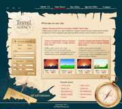 Grey Vector Web site for travel agency Royalty Free Stock Photography
