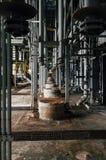 Grey Vertical Pipes - övergav Indiana Army Ammunition Depot - Indiana Royaltyfria Bilder