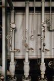 Grey Vertical Pipes - övergav Indiana Army Ammunition Depot - Indiana Royaltyfri Foto