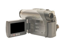 Grey videocamera Royalty Free Stock Photo