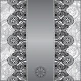 Grey vintage floral ornamental template on flower Royalty Free Stock Image