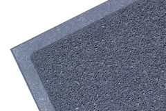 Grey vinyl carpet for trap dust isolated. On white background stock image
