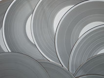 Grey Vinyl Discs Royalty Free Stock Photos