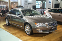 Grey volvo s80l car Stock Photography