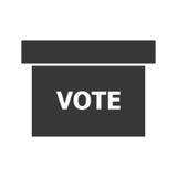 Grey vote box, vector graphic Stock Photos