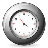 Grey wall clock Stock Image