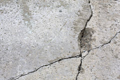 Grey wall with cracks. Royalty Free Stock Photos