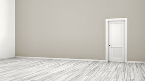 Grey wall and door background Royalty Free Stock Photos