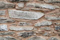 Grey wall of stone Stock Images