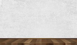 Grey wall, wooden parquet. Background. Vector illustration Stock Image