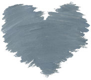 Grey watercolor heart Stock Photography