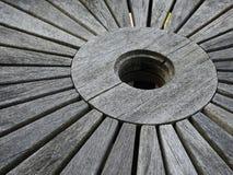 Grey Weathered Wooden Outdoor Table fotografie stock