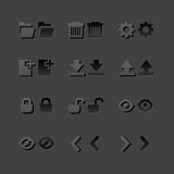 Grey web app graphic editor tools icons in 2 Royalty Free Stock Photos