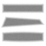 Grey web banners with halftone effect, vector illustration. Royalty Free Stock Images