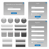 Grey Web Forms and Buttons Royalty Free Stock Photos