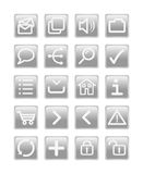 Grey web icon set Royalty Free Stock Photography