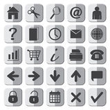 25 Grey Web Icons Set Imagen de archivo libre de regalías
