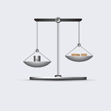 Grey weigh-scales picture Royalty Free Stock Images