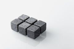 Grey whiskey stones set of 6. Stock Images