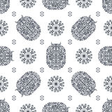 Grey and white ancient vintage seamless ornamental texture. Vector illustration Royalty Free Stock Images