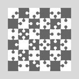 36 Grey White Background Puzzle. Jigsaw Puzzle. 36 Grey White Background Puzzle. Jigsaw Puzzle Banner. Vector Illustration Template Shape Abstract Background stock illustration