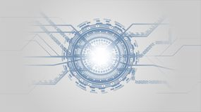 Grey White and Blue Abstract Technology Background with High Tech Futuristic Elements. vector illustration