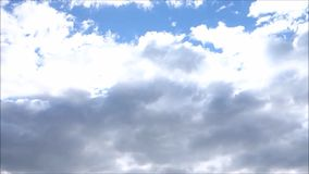 Grey and White Clouds stock footage