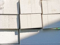 Grey / white concrete blocks / breeze block. White concrete blocks / breeze block Royalty Free Stock Photography