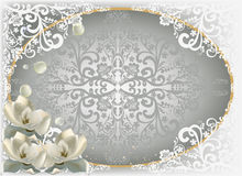 Grey and white decorated floral design Royalty Free Stock Photos