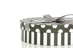 A grey white giftbox Royalty Free Stock Image