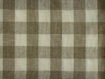 Grey and white linen fabric background. Gray checked fabric linen for background Stock Images