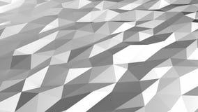 Grey white low polygonal motion loop stock video