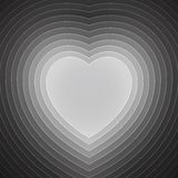 Grey and white paper layers heart shape Stock Photo