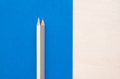 Grey and white pencils Stock Photography