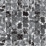 Grey and white squares grunge seamless pattern, vector Stock Images