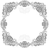 Grey and white vintage frame Stock Photos