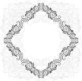 Grey and white vintage frame Stock Images