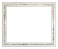Grey wide carved wooden picture frame Stock Photo