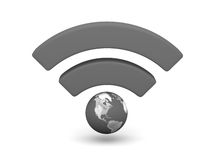 Grey WiFi symbol Royalty Free Stock Image