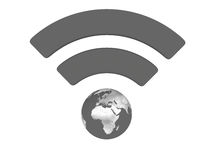Grey WiFi symbol Royalty Free Stock Images