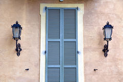 Grey window jerago palaces italy wood venetian blind in the Stock Photos