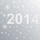 2014 Grey winter. New Year design for 2014 with grey snowflakes Stock Images