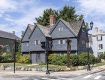 Witch House, Salem, Massachusetts. Grey Witch House in Salem, Massachusetts, USA stock photography