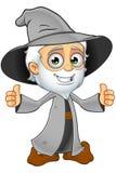 Grey Wizard anziano - mani sulle anche illustrazione vettoriale