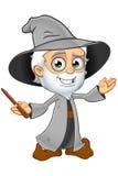 Grey Wizard idoso - apresentando ilustração royalty free