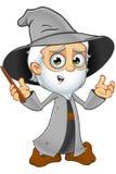 Grey Wizard idoso - confuso ilustração royalty free