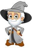 Grey Wizard idoso - mãos nos quadris ilustração royalty free