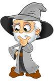 Grey Wizard idoso - pensando ilustração stock